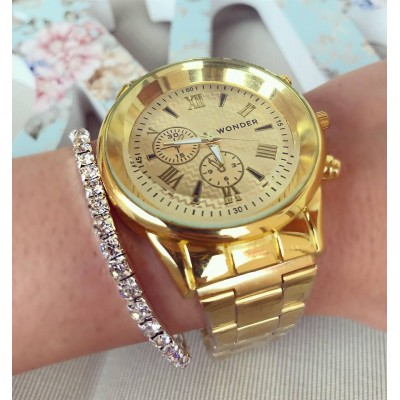 Ceas de dama Gold Fashion Style metalic